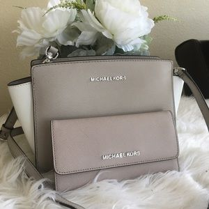 Michael Kors Bags - Last set✨Michael Kors Selma messager bag & wallet